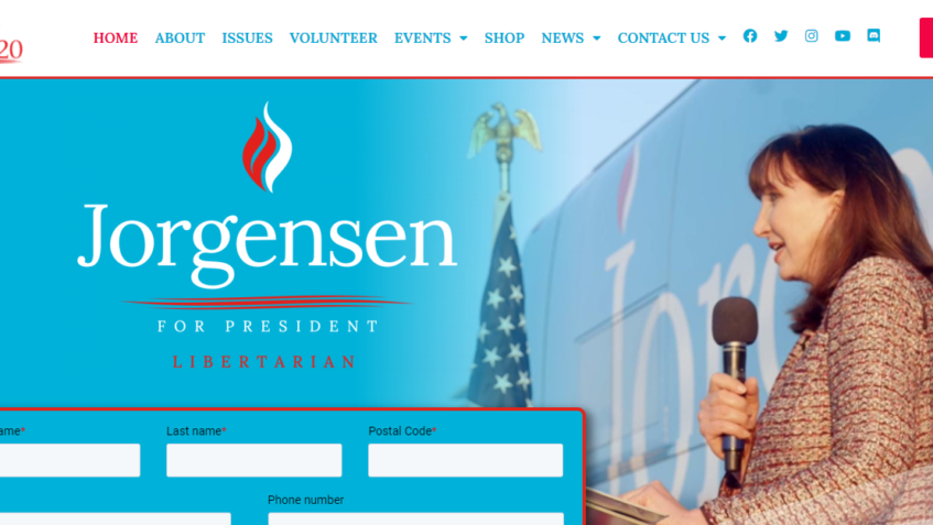 Jo Jorgensen website