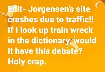 Jo Jorgensen crashed after train wreck debate